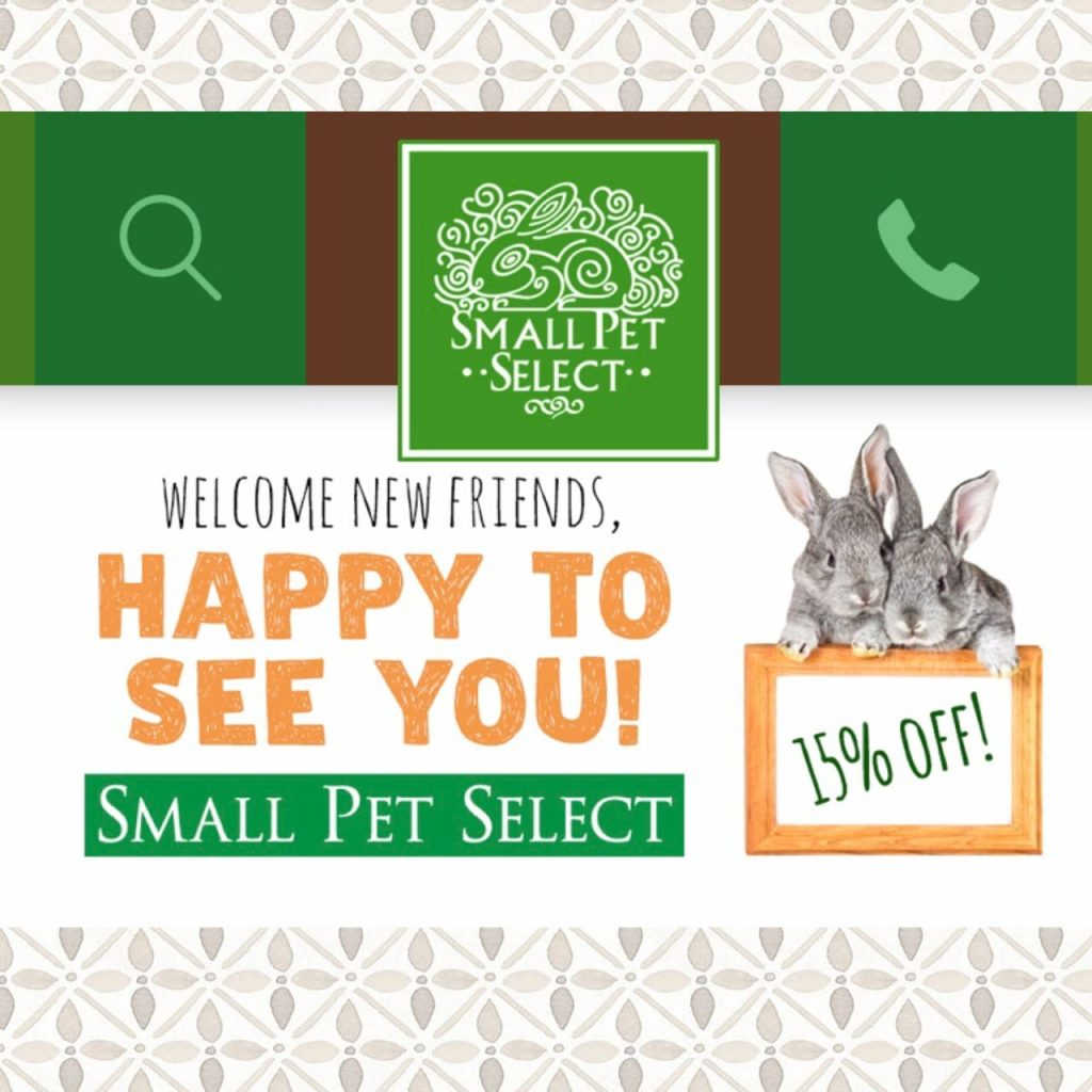 Get your bunny bonus with Small Pet Select